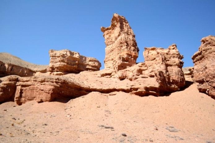 Tuzkol (view of Khan-Tengri)-Canyon Charyn-Canyon  Timirlik